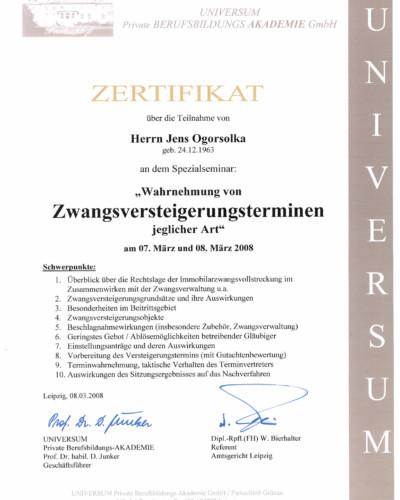 Zertifikat-ZV
